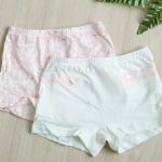 กางเกงใน ขาสั้นเด็กหญิง แพ็คคู่ลายกระต่าย & good morning