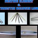 CERAMIC HEATING ELEMENT & TUNGSTEN HALOGEN LAMP