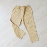 กางเกงขายาวสีน้ำตาลอ่อน