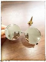 แว่นตา CROP BRAND เลนส์ปรอท /สีเหลืองใส เท่ห์ๆ น่ารักสดใส
