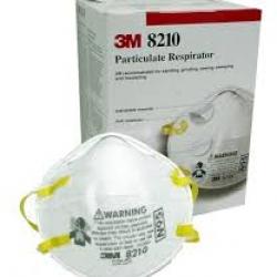 8801230602130 MASK 3M รุ่น 8210 มาตราฐาน N95 หน้ากากป้องกันฝุ่น/ผงหมึก/เชื้อโรค แบบกล่อง 20 ชิ้น