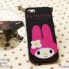 เคสลาย My Melody พื้นหลังดำ (TPU) - iPhone 5, 5s