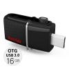 Sandisk Ultra Dual USB 3.0 OTG 16GB speed130MB/Sec Black แท้