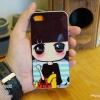 iPhone 5, 5S, SE - เคส Face Idea ลายหญิงถือกระเป๋าแดง