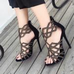 รองเท้าส้นสูงสีดำสวยหรู ไซต์ 35-40