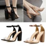 รองเท้าส้นสูง สีทอง/ดำ ไซต์ 35-40