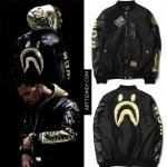 Jacket Bomber Bape x Chris Brown Collab ma-1 -ระบุไซต์-