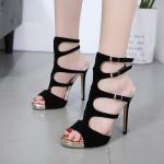 รองเท้าส้นสูงแบบสวยสีดำ ไซต์ 35-40