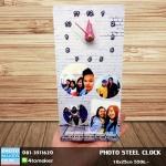 007-สกรีนรูปลงโลหะ Photo Steel Clock 10x25cm