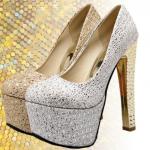 รองเท้าส้นสูง ไซต์ 34-39 สีทอง,เงิน