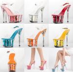รองเท้าส้นแก้วพื้นแต่งดอกไม้ ไซต์ 34-42 สีขาว/แดง/ชมพูเข้ม/ชมพูอ่อน/ส้ม/ขาว/เหลือง/ฟ้า