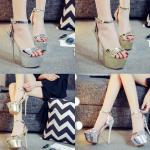 รองเท้าส้นสูงสีเงิน/ทอง ไซต์ 34-39