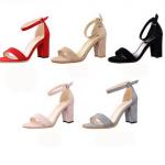 รองเท้าส้นสูง ไซต์ 34-39 สีแดง สีครีม สีดำ สีชมพู สีเทา