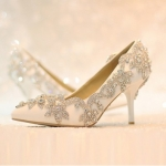 รองเท้าเจ้าสาว ไซต์ 34-39 ส้นสูง 7 ซม.