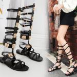 รองเท้า Gladiator สีดำแบบใหม่เก๋สุดๆ ไซต์ 35-40