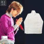 เสื้อแขนยาว (Turtleneck) striped White Sty.GD -ระบุไซต์-