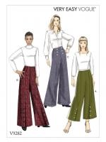 แพทเทิร์นตัดกางเกงขาบาน Vogue V9282 All Size in One Size: (6-8-10-12-14),(16-18-20-22)