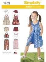 แพทเทิร์นตัดเสื้อผ้าเด็กหญิง ยี่ห้อ Simplicity (1453) ไซส์ 3-4-5-6-7-8