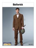 แพทเทิร์นตัดเสื้อสูท กางเกง ชาย Butterick (B6503MQQ) ไซส์ใหญ๋ ไซส์ 46-52