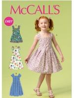 แพทเทิร์นตัดชุดเด็กหญิง Mccalls 6878 Size: 2-3-4-5
