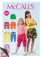 แพทเทิร์นตัดกางเกงเด็ก Mccalls 6950 Size: 3-4-5-6 ขวบ