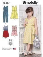 แพทเทิร์นตัดเสื้อผ้าเด็กหญิง ยี่ห้อ Simplicity (8202) ไซส์ 3-4-5-6-7-8