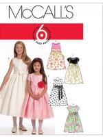 แพทเทิร์นตัดชุดเด็กหญิง Mccalls 5795 Size: 3-4-5-6
