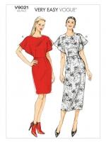 แพทเทิร์นตัดเดรส Vogue 9021 ไซส์ปกติ Size: 6-8-10-12-14 (อก 30.5-36 นิ้ว)