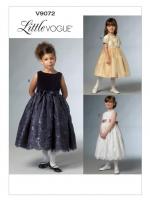 แพทเทิร์นตัดชุดราตรีเด็กหญิง Vogue 9072 Size: 3-4-5-6