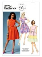 แพทเทิร์นตัดเดรสสตรี Butterick 5982B5 Size: 8-10-12-14-16 (อก 31.5-38 นิ้ว)