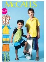 แพทเทิร์นตัดเสื้อยืด เสื้อเชิ้ต กางเกง Mccalls 6548 Size: 3-4-5-6 ขวบ