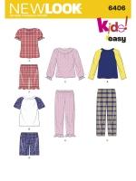 แพทเทิร์นตัดชุดนอน เด็กหญิง เด็กชาย ยี่ห้อ NEWLOOK (6406) ไซส์ 6M-1-2-3-4-5-6-7-8
