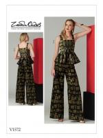 แพทเทิร์นตัดเสื้อ กางเกง Vogue 1572 Size: 6-8-10-12-14 (อก 30.5-36 นิ้ว)