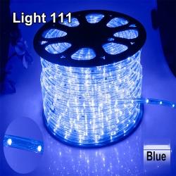 ไฟสายยาง LED (ท่อกลม) 100 m สีฟ้า