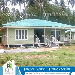บ้านขนาด 7.2*9.5 เมตร (2 ห้องนอน 1ห้องนั่งเล่น 1ห้องครัว 1 ห้องน้ำ)