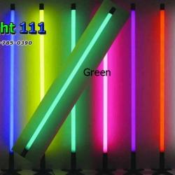 ไฟงานวัด LED สีเขียว (ไฟนิ่งไม่กระพริบ), หลอด T8 สี
