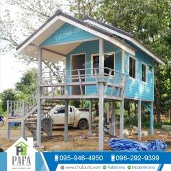 บ้านขนาด 3*7 พร้อมระเบียง 2*3 เมตร ราคา 285,000 บาท (1 ห้องนอน 1 ห้องน้ำ)