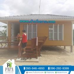 บ้านโมบายขนาด 4*6 ระเบียง 2*3 เมตร (1 ห้องนอน 1 ห้องนั่งเล่น 1 ห้องน้ำ)