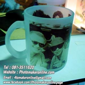 002 สกรีนแก้วใสวินเทจ