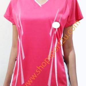 เสื้อกีฬา ad....s สีชมพู - ขาว