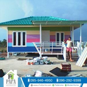 บ้านโมบาย ขนาด 4*6 เมตร (1ห้องนอน 1ห้องน้ำ 1ห้องนั่งเล่น 1ห้องครัว)