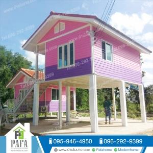 บ้านเเฝดขนาด 4.5*3.5เเละ4.5*6 เมตร (2 ห้องนอน 2ห้องน้ำ 1ห้องรับเเขก)