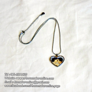002-สกรีนสร้อยล็อกเก็ตหัวใจ
