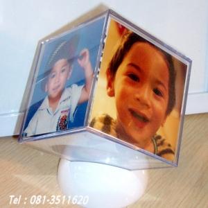 001-โฟโต้บอกซ์ 3x3 นิ้ว กล่องลูกเต๋าพลาสติกใส่รูปได้ 6 ด้าน