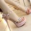 รองเท้าส้นสูงสีชมพู/ดำ ไซต์ 34-39 thumbnail 5