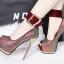 รองเท้าส้นสูงเปิดหน้าสีน้ำเงิน/แดง/เทา/เงิน (สามารถถอดสายรัดข้อออกได้) thumbnail 3