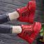 รองเท้าผ้าใบเสริมส้นสีแดง/ดำ/ขาว ไซต์ 34-39 thumbnail 4