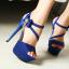 รองเท้าส้นสูงสีม่วง/ชมพู/น้ำเงิน/ดำ ไซต์ 34-39 thumbnail 2