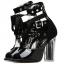 รองเท้าส้นสูงสีดำ/ดำ-ขาว ไซต์ 34-39 thumbnail 8