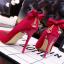 รองเท้าส้นสูง ไซต์ 34-39 สีดำ สีแดง สีเทา สีชมพู thumbnail 3